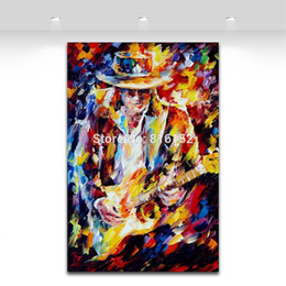 Chinese  Soul Guitarist Figure Palette Knife Painting Picture Printed On Canvas For Home Office Wall Decor Art manufacturers