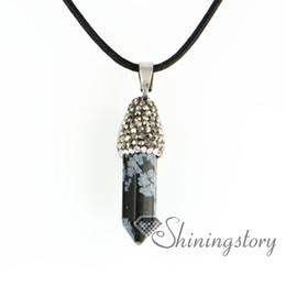 Semi Pendant Australia - hexagonal prisms druzy necklace birthstone necklaces druzy pendant wholesale semi precious jewelry semi precious stone quartz rhinestone