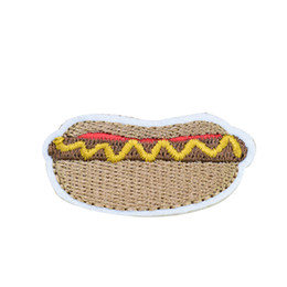 $enCountryForm.capitalKeyWord UK - 10 PCS Hot Dog Embroidered Patches for Clothing Bags Iron on Transfer Applique Patch for Garment DIY Sew on Applique Accessories