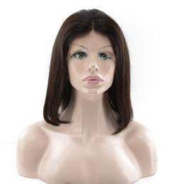 Free style human hair wig online shopping - In Stock Brazilian Virgin Hair bob Glueless Full Lace Human Hair Wigs Straight bob style lace front wig with baby hair