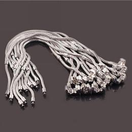 $enCountryForm.capitalKeyWord Canada - Newest fashion 3mm 16cm-23cm 925 logo bracelet chain new 925 sterling silver fashion bangle fit charms beads wholesale silver snake chain