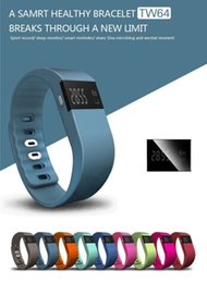 ups trackers NZ - TW64 Bluetooth 4.0 Wristband Healthy Bracelet Waterproof Smartband Fitness Tracker Pedometer For samsung Android for iphone iOS 100pcs up