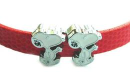 (20, 50) PCS / lot 8MM Cane Carino fascini dello scorrevole fai da te accessori in lega di misura per il cuoio 8 millimetri Wristband Portachiavi AS Souvenir