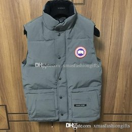Barato Coletes De Designer Para Homens-Moda Winter Down Vest Freestyle ALBERTA Men's Brand Designer Warm Canada Coletes Design Waistcoat Outdoor Sleeveless Coat Plus Size Sa