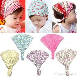 kids cotton headscarf NZ - New Arrival Baby Girl Kid Newborn Flower Headband Hair Wear Accessories Headscarf Bandana Hat 5 Colors BB-129