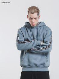 Large hip hop hoodies online shopping - Large Yard Men Pullover New Autumn Letter Printed Warm Fleece Oversize Man Hip Hop Hooded Hoodies