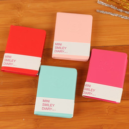 notebook face 2019 - Creative Notepad Candy Colors Cute Smiling Face Notebook Memo Book For Student Stationery Articles 1 7al C R cheap noteb