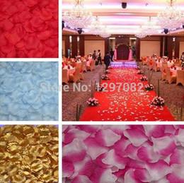 Silk White Rose Leaves Canada - 1000pcs Silk Rose Flower Petals Leaves Wedding Decorations Party Festival Table Confetti Decor 8 colors