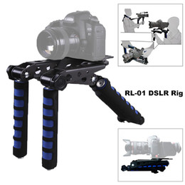 rigging kit dslr Canada - Freeshipping Premium DSLR Rig Movie Flim Kit Shoulder Mount Support Pad Holder Photo Studio Accessories for Canon Nikon Video Camcorder DV