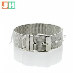 Charm Chain Belt Canada - Free shipping high polished stainless steel jewelry belt bracelet watchband fashion style for men silver color