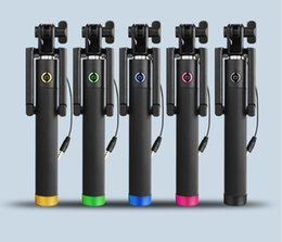 Wholesale Extendable Handheld Self portrait Tripod Monopod Stick For iPhone Samsung and other Smartphone selfie stick