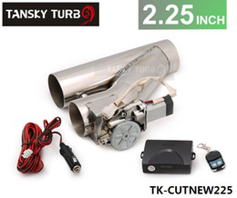 """$enCountryForm.capitalKeyWord NZ - Tansky - High Quality Universal JDM 2.25"""" Electric Exhaust Catback Downpipe E-Cut Out Bypass Valve Kit+Remote TK-CUTNEW225"""