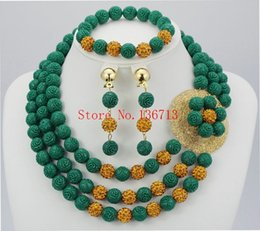 $enCountryForm.capitalKeyWord Australia - Green African Coral Beads Jewelry Sets Nigerian Wedding African Bridal Jewelry Set Free Shipping HD302-4
