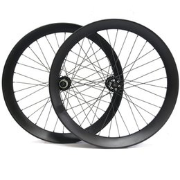 bike wheel set 26 NZ - 26Er Toray T700 Carbon Fiber Bicycle Wheelset Snow bike wheel set Fatbike Wheels Width 90mm Depth 40mm Bicycle wheels