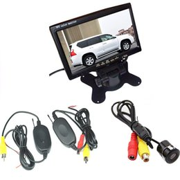 Kit mini camera wireless online shopping - Wireless Car Rear View Kit Mini CCD Waterproof Reverse Parking Camera Wide Angle quot LCD Monitor