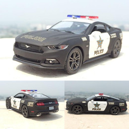 Cars ford gt online shopping - 1 Ford Mustang GT Police Alloy Diecast Model Car Pull Back Vehicle Toy Collection As Gift For Boy Children