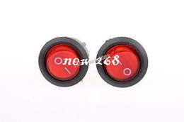 Wholesale 100 Pcs SPST Red Neon Light On Off Round Rocker Switch AC 6A 250V 10A 125V