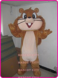 Blue Costume Tail Canada - Promotion Mascot Big Tail Squirrel Mascot Costume Adult Size Cartoon Character Squirrel Mascotte Fancy Dress for Carnival Party