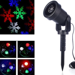 outdoor christmas star light projector NZ - 2017 Mery Christmas Lights Outdoor LED Snowflake Projector Light Star Lawn Lamps Light Waterproof Snow Lasers Christmas Lights