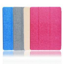 Ingrosso Elegante copertura in pelle di colore solido con motivo in acciaio PU Custodia in pelle per stand CUBE U65gt Talk 9X Octa Core Tablet PC nuovo di zecca