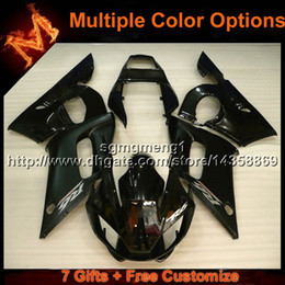 $enCountryForm.capitalKeyWord Australia - 23colors+8Gifts black motorcycle cover for Yamaha YZF-R6 1998-2002 98 99 00 01 02 YZFR6 1998 1999 2000 2001 2002 ABS Plastic Fairing