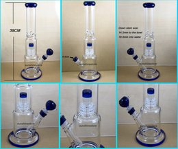 Wholesale DG BLUE Inch Heavy duty Hight quality glass bong with birdcage percs smoking water pipe
