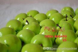 Plastic Fruit Green Apples NZ - Artificial Fruit Green apple Simulation apple plastic apple home wedding Decoration 100pcs lot