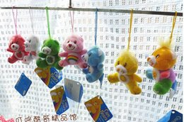 Used Toys Wholesale Australia - Wholesale-2015 New 30pcs lot colors cute teddy bear colorful care bears stuffed toy small plush pendant use for phone bag gift for girl