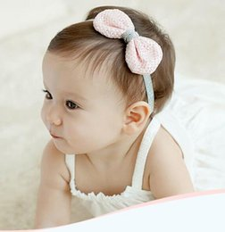 children photo props 2019 - Hot Cute Baby Girl Hair Band Infant Kids Headwrap Lace Bow Princess Hair Ribbon Photo Prop Hair Ornaments Hairband Child