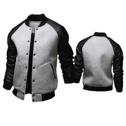 Mens Black Baseball Jacket Leather Sleeves Online | Mens Black ...