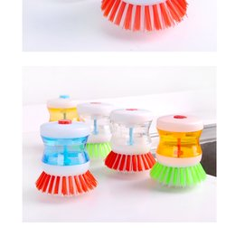 Discount new kitchen floor - Creative kitchen Automatic liquid brush pot Wash the pot brush to wash brush wholesale new large bowl