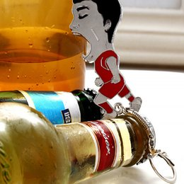 Wholesale Sports Bottle Openers Canada - Hot Sale Fashion Classic the World Cup Memorial Collection Su God Suarez Alloy Bottle Opener With Keychain Key Ring Free Shipping