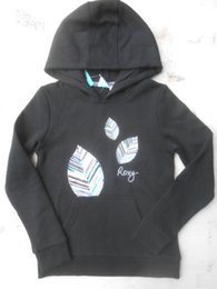 Top Surf Brands NZ - Wholesale-Top Surf Brand ROXI Girl's Leaves Print Pullover Hoody Size 10