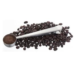 Популярный металлический совок с зажимом из нержавеющей стали кофе мерные ложки истиранию сухое молоко ложка прочный 2 8yz б р