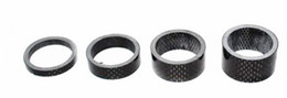 cycle gear NZ - 4pcs lot Full 3K carbon fiber road bicycle headset spacer mountain bike fork cover 28.60mm * 5 10 15 20mm mtb cycling parts matte or glossy
