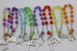 $enCountryForm.capitalKeyWord Canada - Religious Jewelry European Fashion Plastic Rosary Bracelets Metal Cross Bracelets In Jewelry Many Colors Hot Wholesale