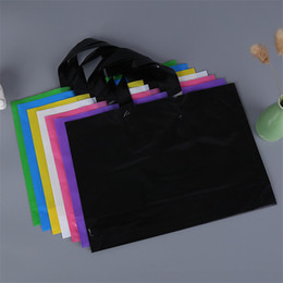 Customize logo printing plastiC bags online shopping - Custom logo printed plastic packing shopping bags with handle customized garment clothing gift packaging bag LZ0773