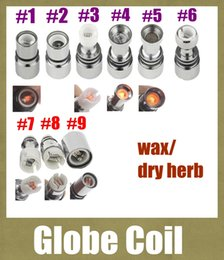 Discount ceramic rods - ceramic coil head Rebuildable Atomizer Globe Core For Wax Dry Herb Vaporizer Herbal Glass Atomizer Coil ceramic rod coil