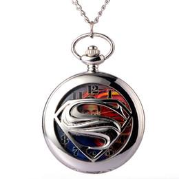 $enCountryForm.capitalKeyWord Canada - Silver Superman Batman Pocket Watch with Necklace Chain Fashion Steampunk Quartz Watch Mens Pocket Gifts