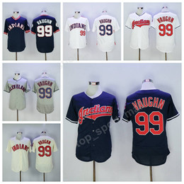 cleveland indians 99 ricky vaughn jersey white 1993 turn back red pullover blue flexbase ricky vaughn
