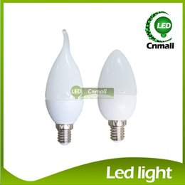 Discount chandelier candle bulbs - LED Candle Bulb LED Light Chandelier Bulb 6W 500lm Led Candle Bulb E27 E14 LED Chandelier Led Light Lamp Lighting SMD283