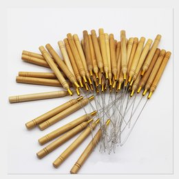 $enCountryForm.capitalKeyWord Australia - OT- 53 Wooden Handle Pulling Needle Loop Hooked Crochet Needle Weaving Hair Extensions Tools Hook Needles for free shipping!
