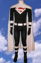 Superman Lycra Spandex Pas Cher-Justice Lords Superman Spandex Superhero Costume Halloween Cosplay Party zentai suit