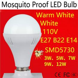 Energy Saving Bulbs B22 Australia - E27 E14 B22 Mosquito Proof LED Light Bulb 110V SMD 5730 3W 5W 7W 9W 12W LED Energy Saving Bulb Indoor Lighting