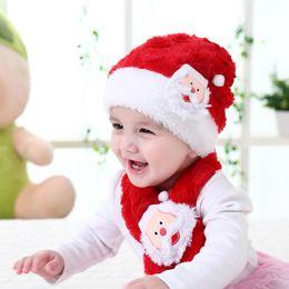 dcb648ba049 Baby Girl Santa Hat NZ - 2018 New Arrival Baby Christmas Hat Plush Children  Cap Kids