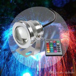 DHL 16 цветов 10 Вт 12 в RGB LED подводный фонтан света 1000LM плавательный бассейн пруд Аквариум аквариум светодиодные лампы IP68 Водонепроницаемый на Распродаже