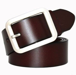 Designer Leather Trousers Canada - 2017 new designer brand mens belts leather jeans trouser belt pin buckle strap band waistband free shipping