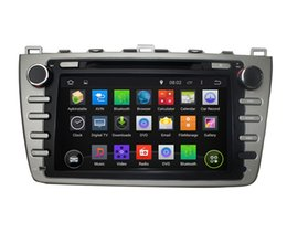 Chinese  Capacitive Touch Screen 100% Android 4.4 8 inch Car DVD GPS For Mazda 6 2008-2012 Support DVR OBD Built in WiFi 3G With Canbus manufacturers
