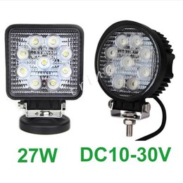 27w Tractor Work Light Canada - DHL Free LED Work Light 4Inch 27W work lamp 12V 24V Motorcycle Tractor Truck Trailer SUV Boat 4WD 4x4 offroad work light
