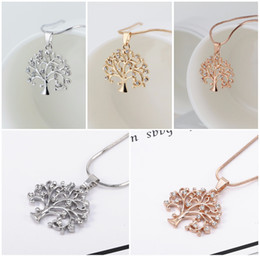 $enCountryForm.capitalKeyWord Australia - 2018 Tree Of Life Sweater Chain Necklace For Women Long Love Heart Crystal Pendant Elegant Necklace Rose Gold Fashion Jewelry D370L